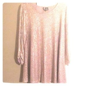 Rose Gold Shiny metallic thread top